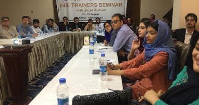 FIDE Trainer Seminar in Kabul, Afghanistan